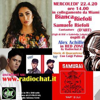 """Bianca Riefoli e D'ART (Samuele Riefoli) ospiti di Alex Achille in RED ZONE """"Storie di Quarantena"""" by Radiochat.it"""