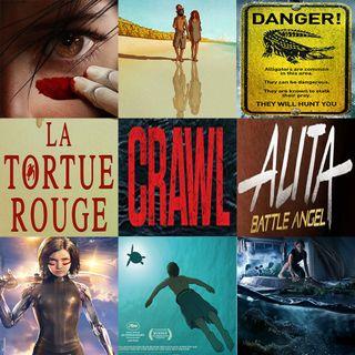 Week 123: (Crawl (2019), Alita: Battle Angel (2019), The Red Turtle (2016))