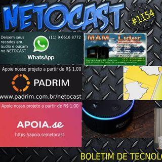 NETOCAST 1154 DE 24/05/2019 - BOLETIM DE TECNOLOGIA