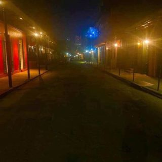 Local New Orleans: An Empty Bourbon Street (Pandemic)