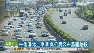 13:35 連假第2天 國5行車時間估平日7倍 ( 2019-06-08 )
