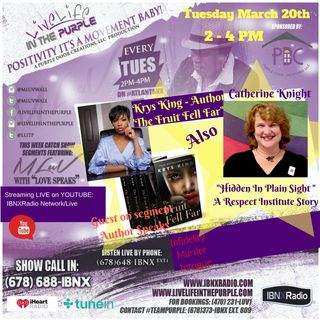 Live Life In The Purple with Mluv-Guests Author Krys King and Catherine Knight