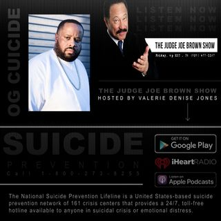 OG Cuicide Raises Awareness for Mental Health Issues on The Judge Joe Brown Show