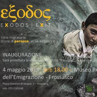 Tutto Qui - venerdì 4 maggio - La Mostra Exodos a Frossasco e la festa delle famiglie a Torino