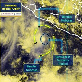 Se forma tormenta tropical Julio. Genera lluvias en Oaxaca, Guerrero y Michoacán