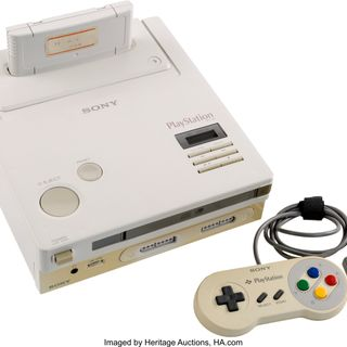 """""""Nintendo Playstation"""" prototype found. Current bid $16,000. Also, what are the Queen's undies worth to you?"""