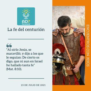 23 de julio - La fe del centurión - Devocional de Jóvenes - Etiquetas Para Reflexionar