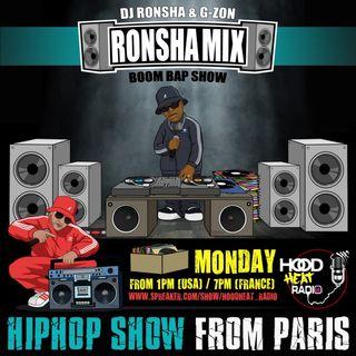 #RONSHAMIX BOOMBAP SHOW W/ DJRONSHA & GZON [ BOOMBAPHIPHOP ]