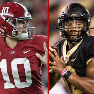 Greg McElroy favors Jamie Newman over Mac Jones, Justin Smith joins the show, Charlie Strong talk