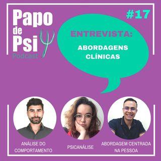 #17 Papo de Psi Entrevista: Abordagens Clínicas.