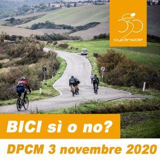 DPCM 3 nov 2020 si può uscire in bicicletta? Chiariamo qualche dubbio