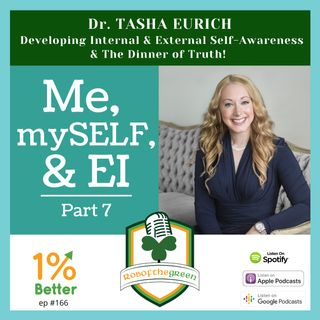 Dr. Tasha Eurich - Internal & External Self-Awareness & The Dinner of Truth - Me, mySELF, & EI Part 7 - EP166