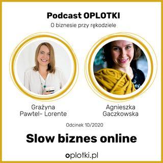 10_2020 Slow biznes online - wywiad z Grażyną Pawtel-Lorente