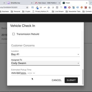 Fresh: Adding and Checking In Customers Demo