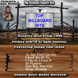 Top Billboard Country Music Hits from 1995 2-8-19