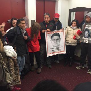 Antonio Tizapa padre de uno y de todos los 43 normalistas de Ayotzinapa nos compaña con una comitiva para hablarnos de su historia
