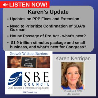 PPP extension; SBA Administrator confirmation; PRO Act status; $1.9 trillion stimulus; what's next for Congress?