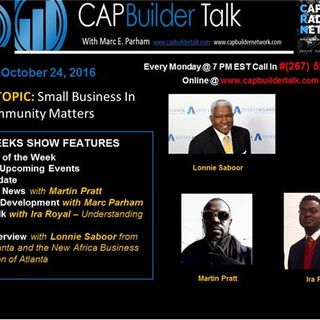 CAPBuilder Talk REPLAY SHOW -  Lonnie Saboor on how to get your business funded