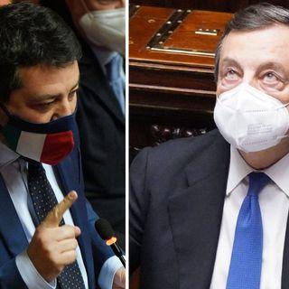 SALVINI NON VOTA, DRAGHI INFURIATO