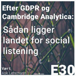 Efter GDPR og Cambridge Analytica: Sådan ligger landet for social listening