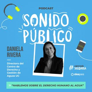 """Daniela Rivera en """"Hablemos sobre el derecho humano al agua"""""""