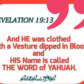 THE WORD OF YAHUAH...THE LIVING ELOHIYM is COMING AGAIN...SOON!