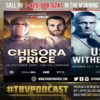 ☎️Usyk vs Witherspoon Set🤢 Spong Out😢 Chisora vs Price Official🤷🏾‍♂️