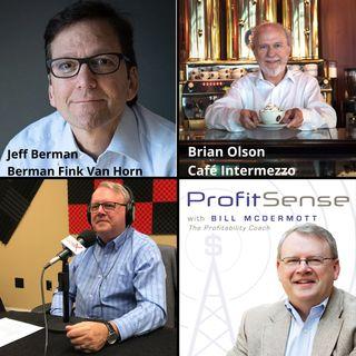 Jeff Berman, Berman Fink Van Horn P.C. and Brian Olson, Café Intermezzo (ProfitSense with Bill McDermott, Episode 15)