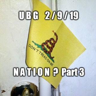 The Unpleasant Blind Guy : 2/9/19 - Nation?  Part 3
