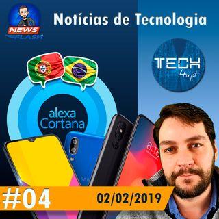 Noticias #04 - Samsung Galaxy M10 e M20, Xiaomi Mi 9, Cortana