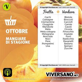 Frutta e verdura di stagione ad Ottobre