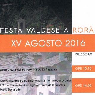 Sara Tourn Erika Tomassone - festa 15 agosto a Rorà