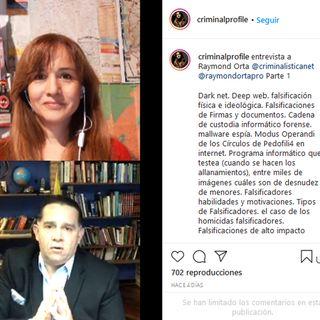 Maria Laura Quiñones Urquiza de @criminalprofile entrevista a @RaymondOrta