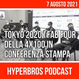 Tokyo 2020 i Fab Four della 4x100 in conferenza stampa