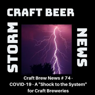 "Craft Brew News # 74 - COVID-19 - A ""Shock to the System"" for Craft Breweries"