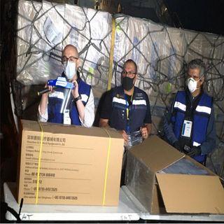 México recibe 7 donaciones de insumos médicos