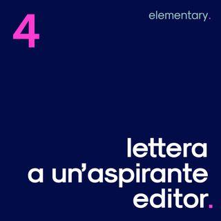 Lettera a un'aspirante editor