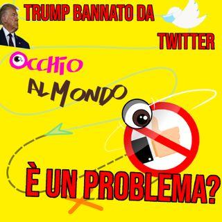 Trump bannato da twitter: è un problema?