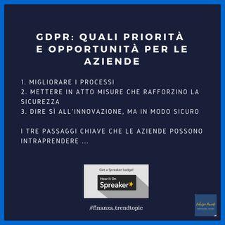GDPR: priorità e opportunità per le aziende