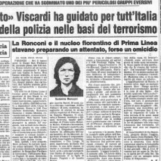 Prima Linea. Interrogatorio del pentito Michele Viscardi