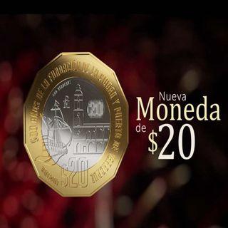 Circula nueva monea de 20 pesos para conmemorar 500 años de fundación de Veracruz