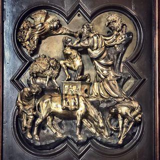 Sacrificio di Isacco di Brunelleschi