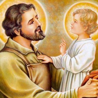11. Jesús bebé ora por San José