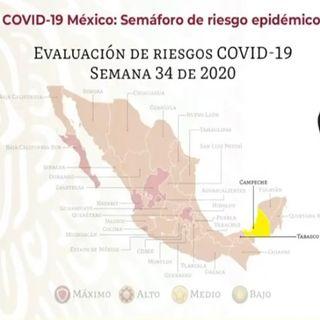 Campeche alcanza color amarillo en semáforo epidemiológico