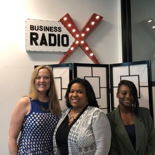 Katharine Chestnut with Alkaloid Networks, Lisa Laday-Davis with Kennesaw CPA and Nikkita Gordon with Cute and Cocky