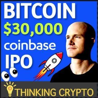 Bitcoin $30K Soon? Coinbase IPO In 2021 & Bitcoin Mining Boom In USA!