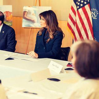 First Lady Melania Trump Visits Boston Medical Center