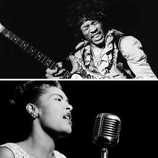 Billie Holiday y Jimi Hendrix