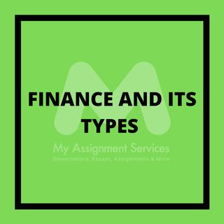 Finance And Its Types Described By Finance Assignment Help Providers
