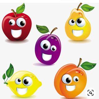 diálogo entre as frutas demonstrando seus valores !